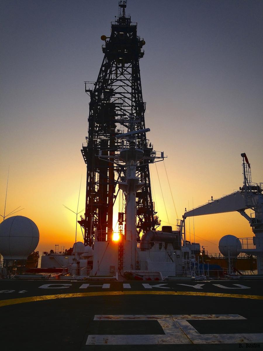 Riser drilling during IODP Exp. 348